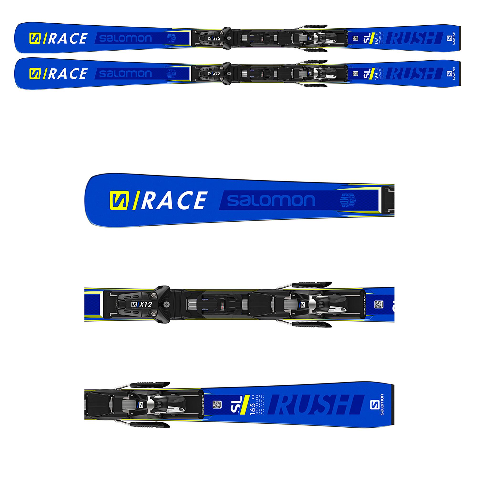 NARTY SALOMON X S/RACE RUSH SL + WIĄZANIA  X12